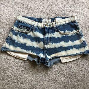 Current/Elliott tie dye jean shorts
